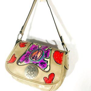 Psychedelic Custom Hobo Statement Couture OOAK